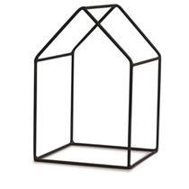 Adorno de Metal Preto Formato Casa 11x10,5x17cm Mart -