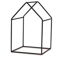 Adorno de Metal Preto Formato Casa 9x14cm Mart -