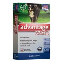Advantage Max3 Bayer 4ml  Câes Acima de 25kg - 1 unidade -