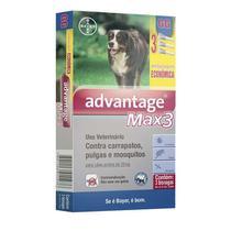 Advantage Max3 Bayer 4ml  Câes Acima de 25kg Combo Leve 3 Pague 2 -
