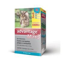 Advantage Max3 Cães 4 A 10kg Combo 3 Pipetas - Bayer -