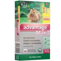 Advantage Max3 Cães Bayer 0,4ml Até 4 kg Combo Leve 3 Pague 2 -
