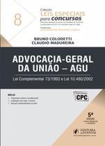 Advocacia Geral da União - Agu - Coleção Leis Especiais Para Concursos - Vol.8 - Juspodivm
