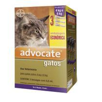 Advocate - Antipulgas Para Gatos De 4 A 8kg - Bayer - 3 Pipetas -
