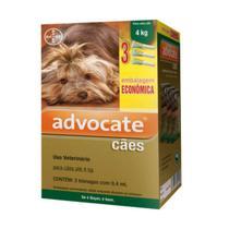 Advocate Cães até 4kg Combo c/ 3 Bisnagas 0,4ml - Bayer