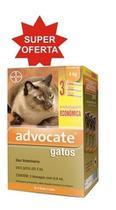 Advocate Gatos Até 4kg Combo 3 Pipetas - Bayer -