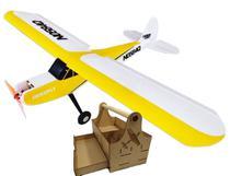 Aeromodelo Piper Avião De Controle Remoto Trainer 4ch Kit 4 - Aerofly