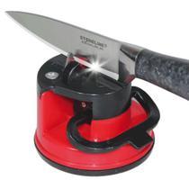 Afiador Amolador Faca Tesoura Canivete Facão com Ventosa WMTLL80143 -