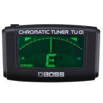 Afinador Clip On Cromatico para Guitarra Baixo Ukulele Boss TU01 -