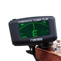 Afinador de Clip Cromatico p/ Guitarra Violão Baixo Ukulele Viola TU-01 Chromatic Tuner Preto - Boss -