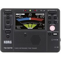 Afinador Metrônomo Korg Tm-50tr-bk Compacto Com Treinador Digital -