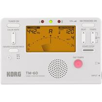 Afinador Metrônomo Korg Tm-60-wh Compacto Branco -