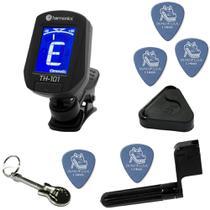 Afinador Para Guitarra E Violão De Clip Cromático Harmonics TH-101 + Kit IZ1 -