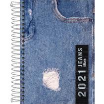 Agenda Espiral 2 Dias por Página Jeans 2021 Tilibra -