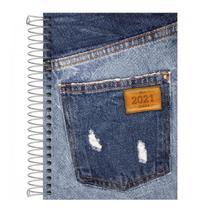 Agenda Espiral 2 Dias por Página Jeans Etiqueta 2021 Tilibra -