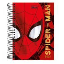 Agenda Espiral Diária 2021 Spiderman Rosto Tilibra -