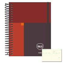 Agenda Espiral Planner Semanal 2021 Yale Vermelho Jandaia -