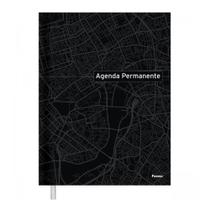 Agenda Permanente Costurada Preta Foroni -