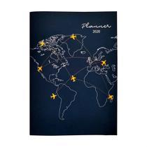 Agenda Planner 2020 YES Trip Mensal Grampeado Azul Globo -