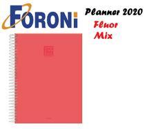 Agenda Planner Fluor Mix Soft 190x247 Vermelho Foroni -