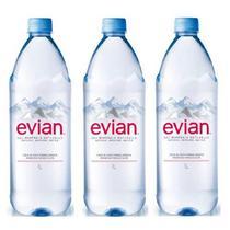 Água Mineral Evian Sem Gás 1 Lt 03 Unidades -