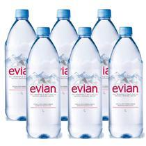 Água Mineral Evian Sem Gás 1 Lt 06 Unidades -