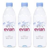 Água Mineral Evian Sem Gás 500ml 03 Unidades -
