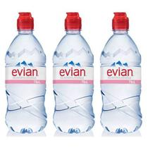 Água Mineral Evian Sem Gás Plástico 750ml 03 Unidades -