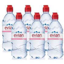 Água Mineral Evian Sem Gás Plástico 750ml 06 Unidades -