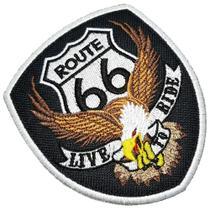 Águia Rota 66 EUA Live To Ride Patch Bordado Termo Adesivo - Br44