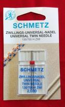 Agulha 130/705H ZWI 80/12 dupla 2 mm Schmetz para costura -