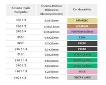 Agulha 13x3 (30g 1/2) Para Carboxiterapia BD -