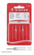Agulha Dupla 2024 N.11 Singer 4mm para Máquina De Costura Doméstica -