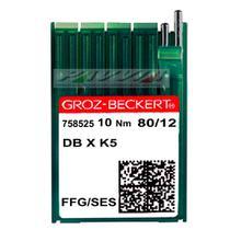 Agulha para Máquina de Bordar DB X K5 FFG Groz-Beckert Caixa com 100 unidades -