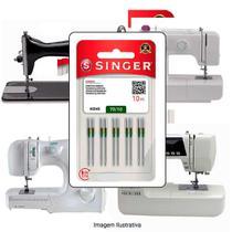 Agulha Singer Para Máquina de Costura Domestica 2045 130/705 Cabo Dourado -