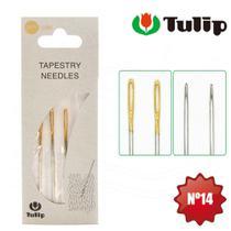 Agulha Tapestry para Bordar Tapeçaria Tulip nº 14 - 3 Unidades -