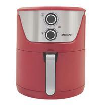 Airfryer Fritadeira Lightfry Vermelha Em Inox  4 Litros 220V- Suggar -