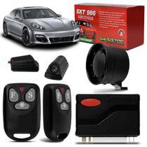 Alarme Automotivo Universal Sistec SXT 986 2 Controles Bloqueio Antiassalto Pânico SX40 com Sirene -