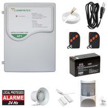 Alarme De Presença Residencial + Sensor Magnético Completo - Compatec