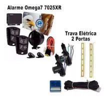 Alarme Omega 7 7025xr Completo + Trava Elétrica 2 Portas -