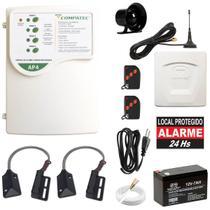 Alarme Para Loja Comercial Sensor Abertura P/ Porta de Ferro Discadora GSM Envia SMS e Faz Ligação - Compatec