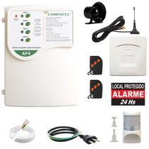 Alarme Residencial Discadora GSM Chip Celular Completo Envia SMS E Faz Ligação - Compatec