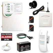 Alarme Residencial Externo Com Fio Gsm Chip Sensor Duplo Pet - Compatec