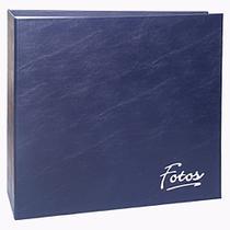 Album 1000 Fotos 10x15 Corino Azul Marinho com Ferragem - Album Tematico