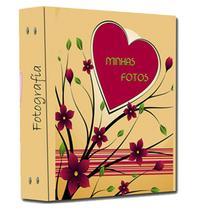 Álbum 10x15 -Album Mania- Modelo Primavera -Capacidade Para 480 Fotos 10x15 cm + Brinde -