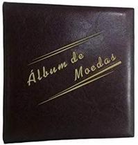 Álbum Acolchoado Pinos Grande Marrom  para 300 Moedas - Loja Do Colecionador