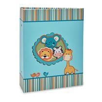 Álbum Bebê 120 Fotos 10x15 Ical Animais Azul -