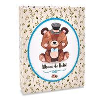 Álbum Bebê 120 Fotos 10x15 Ical Urso Flor Azul -