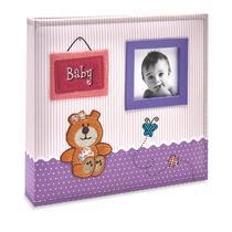 Album Bebê Tecido 200 Fotos 10x15 Ical Baby Roxo -