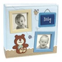Álbum Bebê Tecido Ferragem 100 Fotos 15x21 800 - Ical -